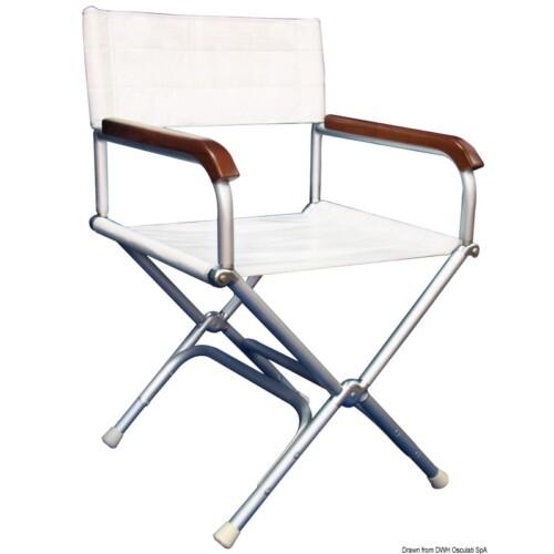 Rendezői szék fehér színben