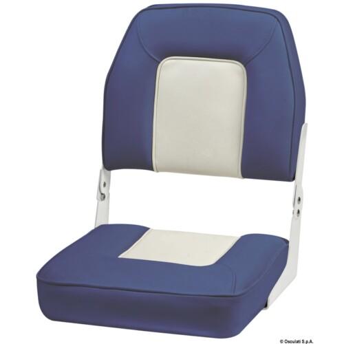 De Luxe ülés, összecsukható háttámlával fehér-kék