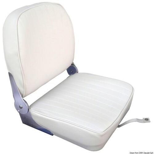 Alu párnázott ülés fehér