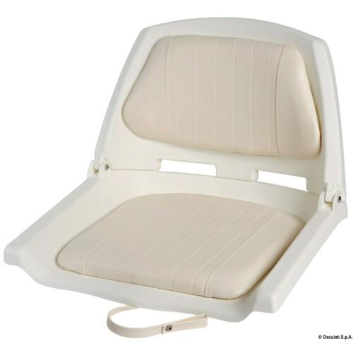Műanyag ülés fehér, dönthető háttámlával