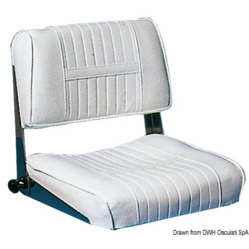 Fém ülés textil-bőr párnával
