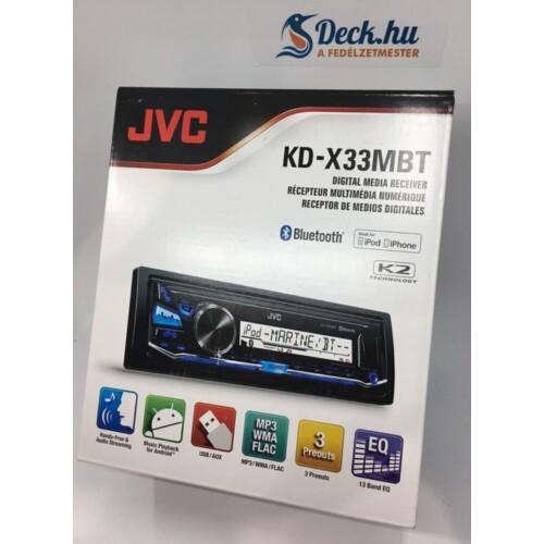 KD-X33M BT JVC vízálló mechanika nélküli