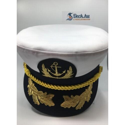Kapitány sapka fehér extra 58-as