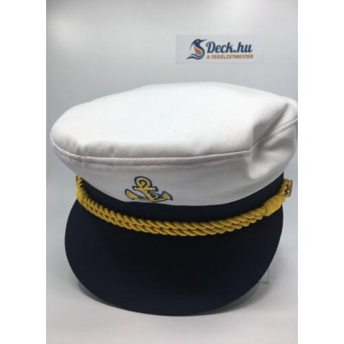 Kapitány sapka fehér 54-es