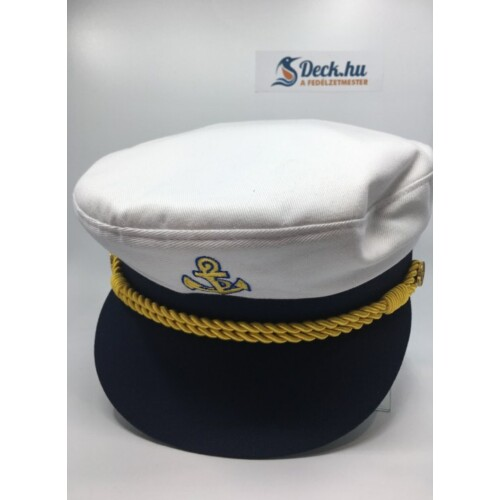Kapitány sapka fehér 57-es