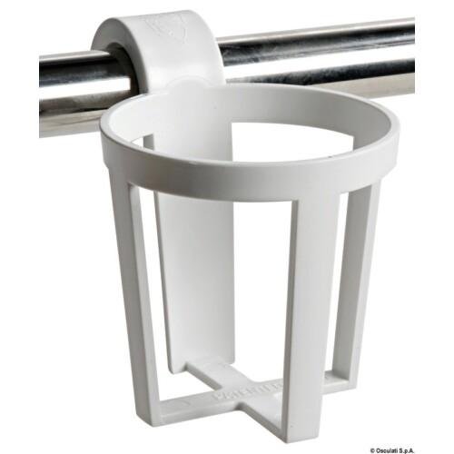 3 darabos, korlátra akasztható műanyag pohártartó 25-30mm