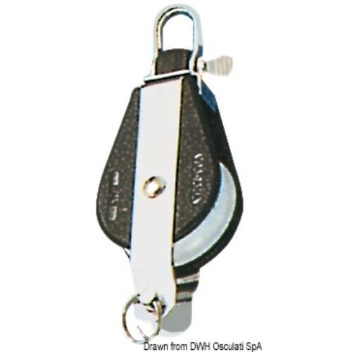 Csiga forgófejes - Single block w/becket fixed or swivel head A 8mm kötélhez