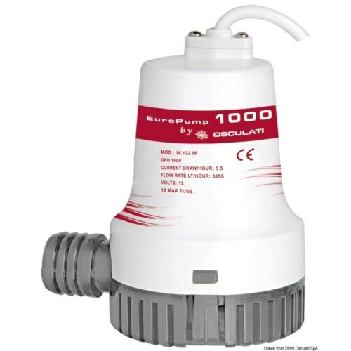Fenékvíz szivattyú EUROPUMP II 1000 24V OSC