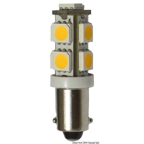 Navigaciós lámpa - LED izzó 12V BA9S 8.5W 95Lum