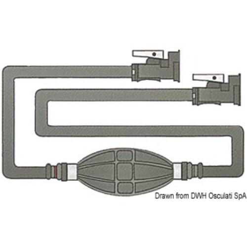 Üzemanyag cső + pumpa + 2 csatlakozó MERCURY OSC