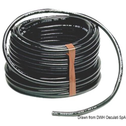 Üzemanyag cső fekete 8x15mm OSC