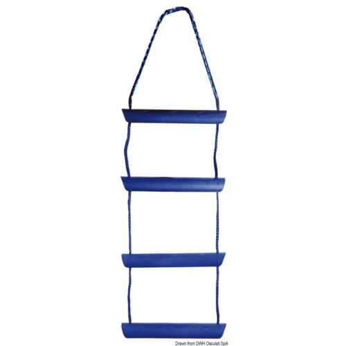 Létra kék műanyag 4 fokú OSC