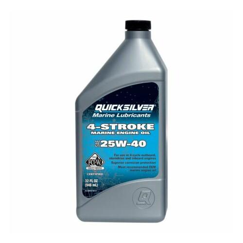 Quicksilver 25w40 beépített hajómotor olaj 1L synthetic blend