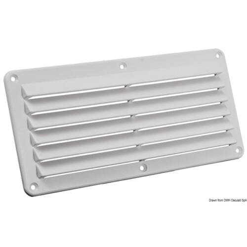 Szellőzőrács 125x260 mm Fehér műanyag