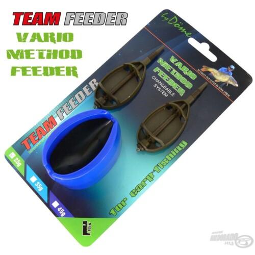 TEAM FEEDER Vario Method Feeder kosár szett L 25 g