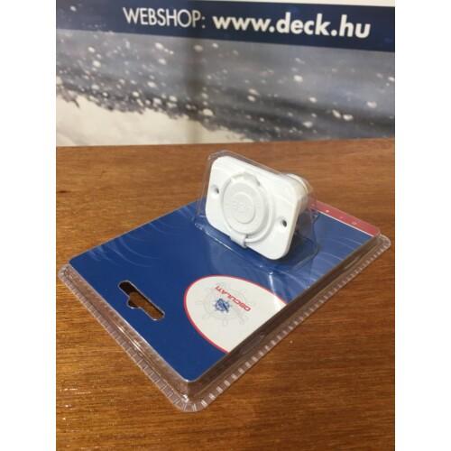 USB töltő 1-es  besüllyeszthető  fehér