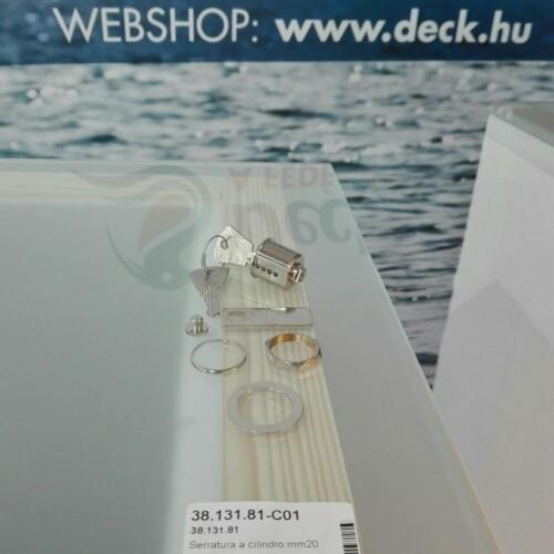 Zár 20mm kulcsos inox OSC