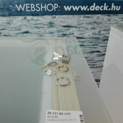 Zár 15 mm kulcsos inox OSC